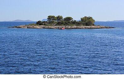 small dalmatian island