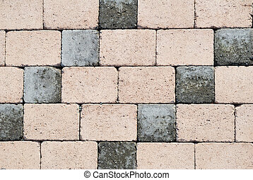 Small dark and light bricks wall texture