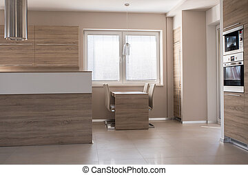 Small dining table in kitchen