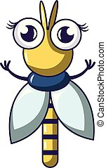 Small dragonfly icon, cartoon style - Small dragonfly icon....