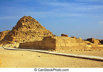 small egypt pyramid in Giza
