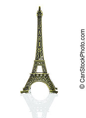 Small Eiffel tower isolated