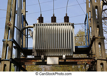 small electrical transformer used in small villages