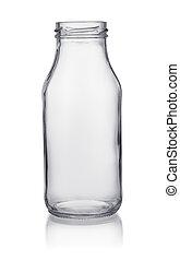 Small empty glass bottle