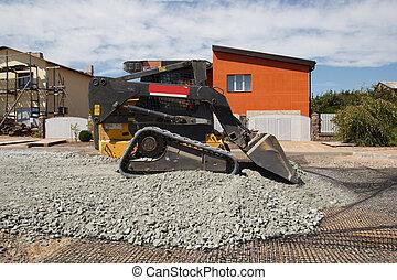 small excavator working