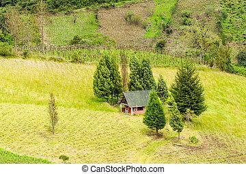 Small Farm House Aerial View