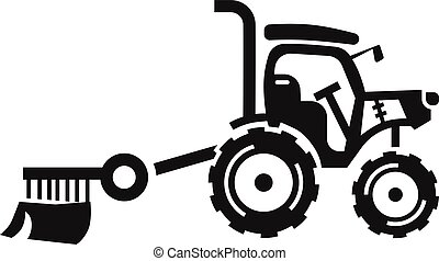Small farm tractor icon, simple style
