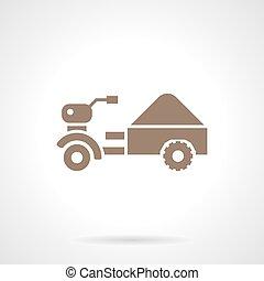 Small farm truck glyph style vector icon