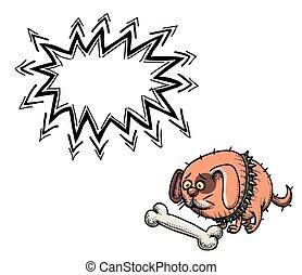 small fat dog-100 - Cartoon image of small fat dog. An...