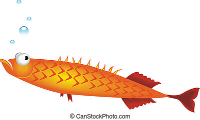 Small fish - Vector illustration of small fish on white...