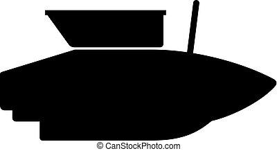 Small fish feeding boat