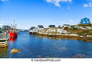 Small fishing village in Eastern Canada