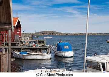 Small fishing village in Sweden