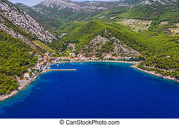 Small fishing village Trstenik in Croatia