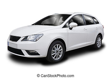 Small Five-Door Hatchback Vehicle - Small White Five-Door ...
