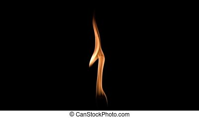 Small flame in super slow motion