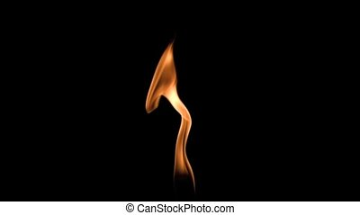 Small flame moving in super slow motion