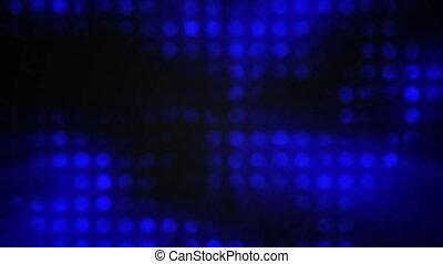 Small flashing bokeh dots lights
