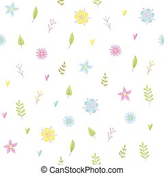 Small flowers pattern with daisy
