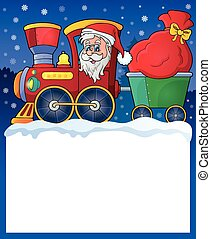 Small frame with Christmas train