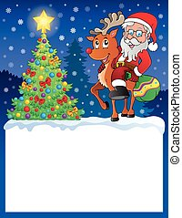 Small frame with Santa Claus 9 - eps10 vector illustration.