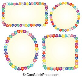 Small frames with flower theme 1