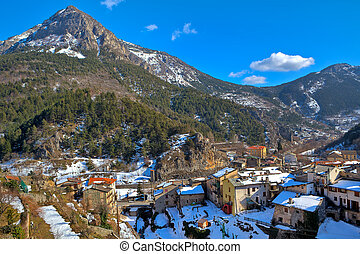 Small french town of Tende in Alps.