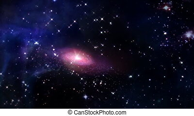 small galaxy in space