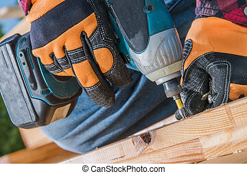 Small Garden Woodworking with Cordless Drill Driver