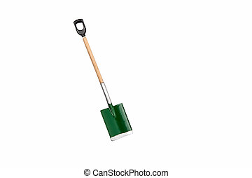 Small gardening shovel isolated on white