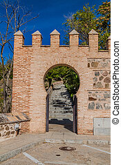 Small gate in the old town of Toledo, Spa