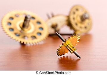 Small gears on the table