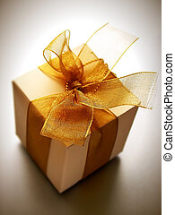 small gift - A small box of appreciation gift. Shallow depth...