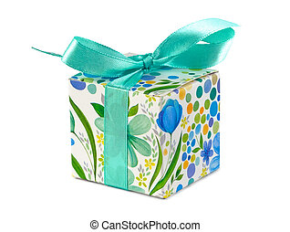 small gift box on the white background