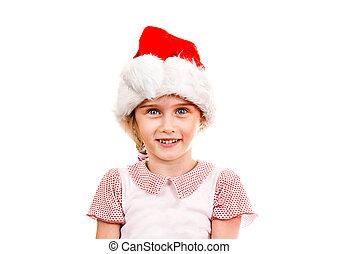 Small Girl in Santa Hat