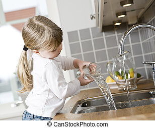 Small Girl in the kitchen