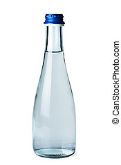 Small glass bottle with water