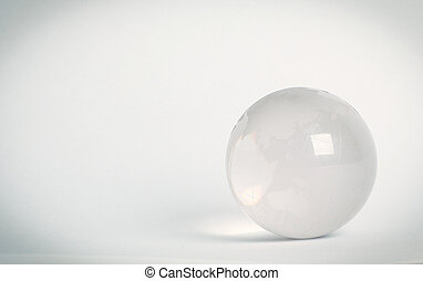 small glass globe. isolated on a white background.