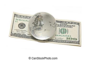 globe on hundred dollar