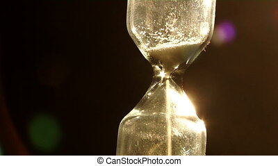 sand clock - small glass sand clock with deep dark...