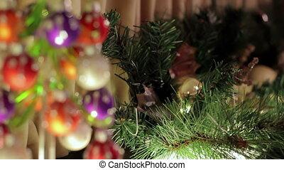 Small glassy herringbone with decorations