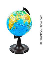 Small globe. Photos isolated on white background