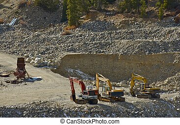 Gold Mine Operation - Small Gold Mine Operation. Excavators...