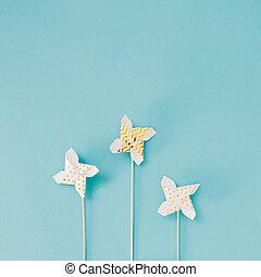 Small Golden Pinwheel toy fan