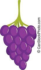 Small grape icon, cartoon style