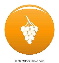 Small grape icon orange