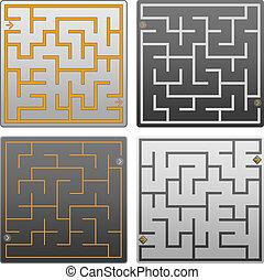 Small gray labyrinth