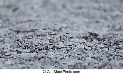 Small gray stones with diffused background