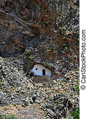 Small Greek chapel - Greek Chapel built in a cave, Samaria...