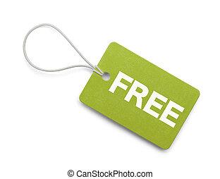 Small Green Free Tag